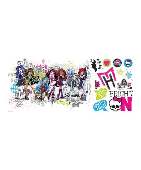 Monster High Group Peel & Stick Giant Wall Decal Set