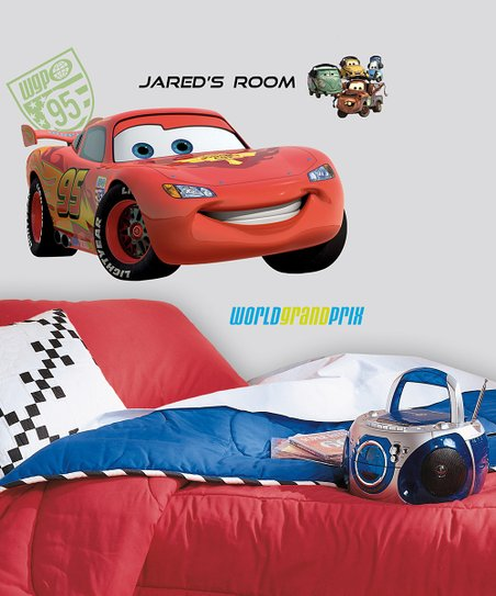 Lightning McQueen Personalized Giant Peel & Stick Wall Decal