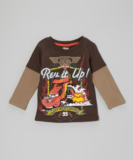 Black Cars 'Rev it Up!' Layered Tee - Toddler