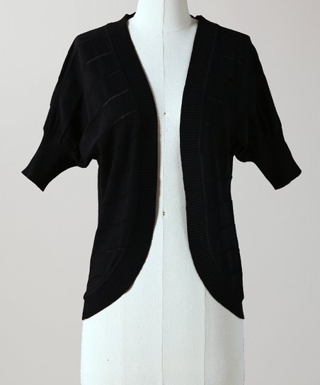Black Dancing Queen Open Cardigan