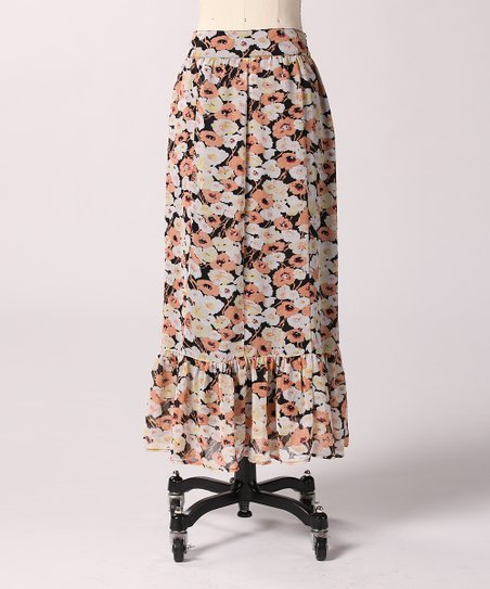 Peach Piece it Together Maxi Skirt