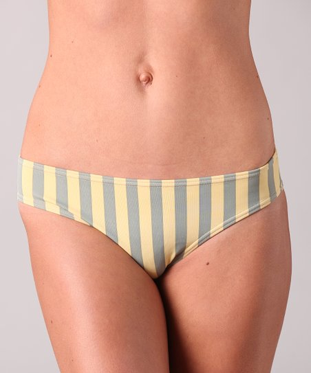 Yellow Stripe Islander Bikini Bottoms