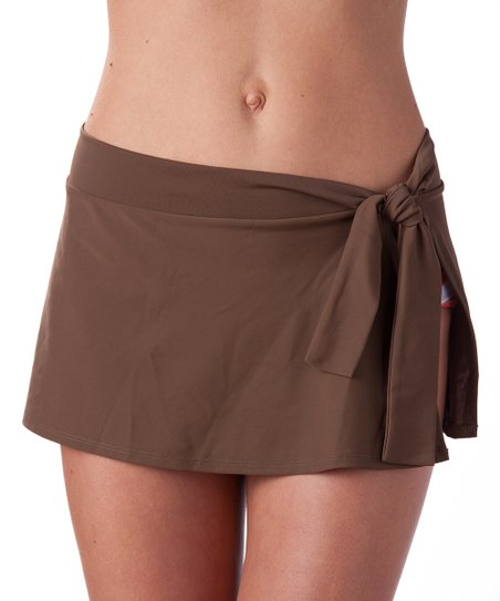 Brown Set Sail Cover-Up Swim Skirt