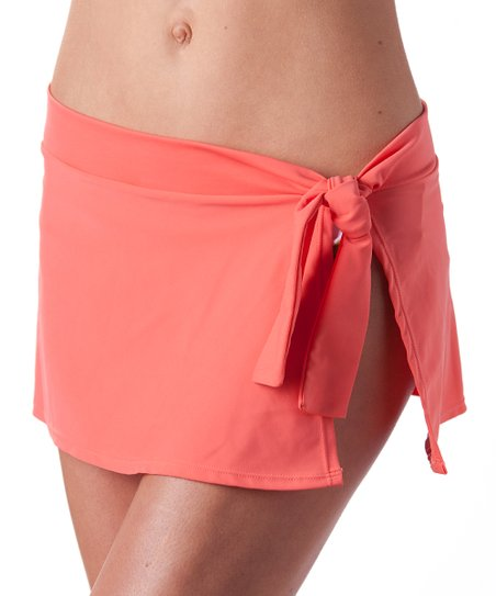 Peachy Pink Cover-Up Swim Skirt