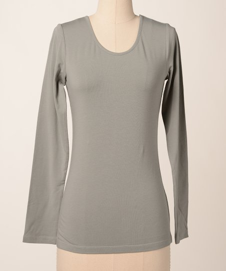 Neutral Favorite Long-Sleeve Scoop Neck Tee