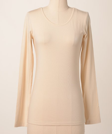 Parchment Favorite Long-Sleeve Scoop Neck Tee