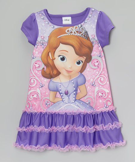 Purple Sofia the First Ruffle Nightgown - Toddler