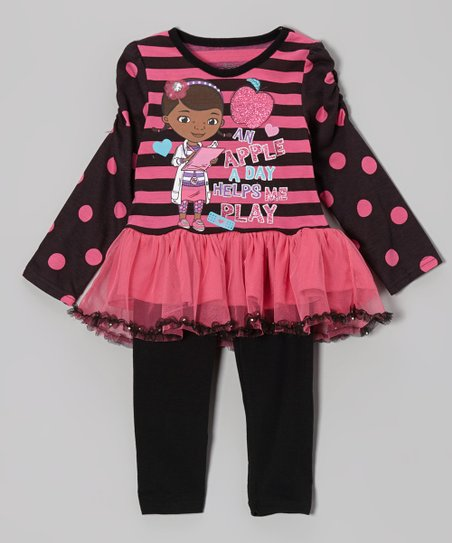 Pink Doc McStuffins Ruffle Tunic & Leggings - Toddler & Girls