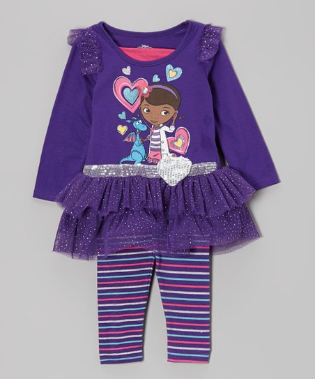 Purple Doc McStuffins Ruffle Tunic & Leggings - Toddler & Girls
