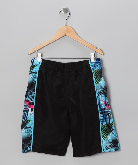 Black Wave Chaser Boardshorts - Boys