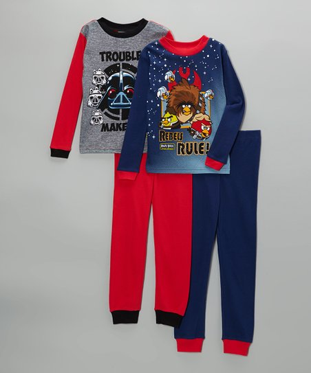 Navy & Red Angry Birds Star Wars Pajama Set - Kids