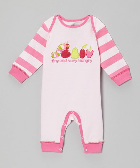 Pink Stripe Sleep-N-Play Playsuit - Infant