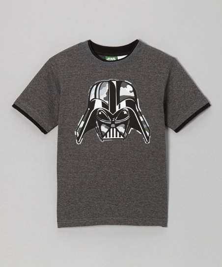 Heather Gray Darth Vader Tee - Boys