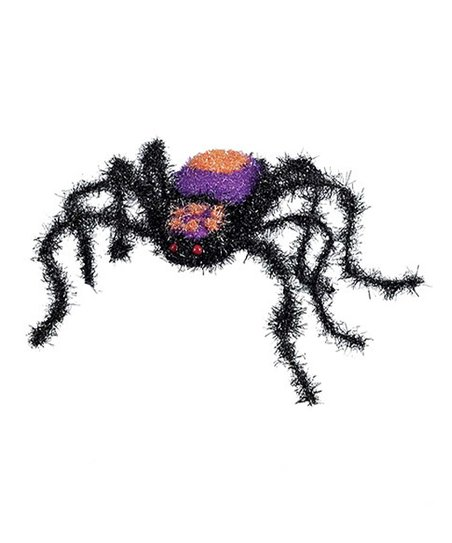 Purple & Orange Sparkly Spider