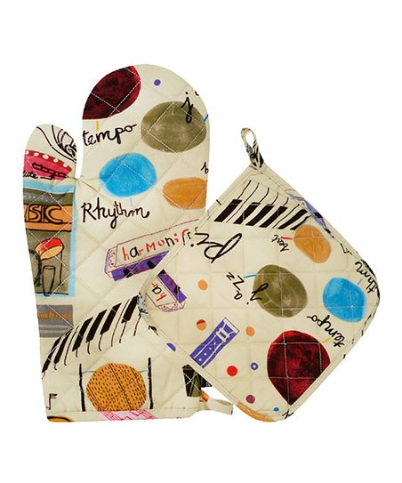 Noteables Oven Mitt & Pot Holder