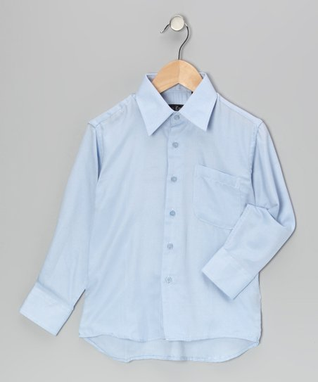 Light Blue Button-Up - Boys