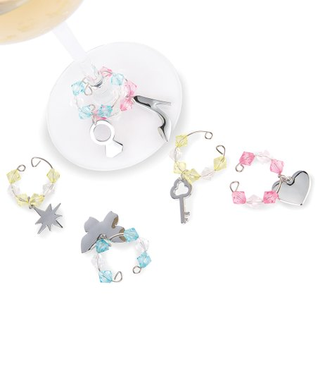 Iridescent Wine Charm Set