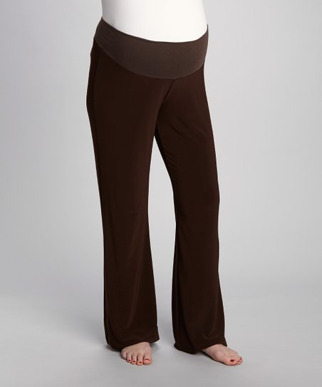 Chocolate Luxe Mid-Belly Maternity Pants