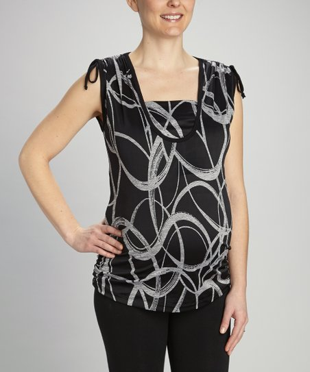 Heather Gray Swirl Maternity &amp; Nursing Top