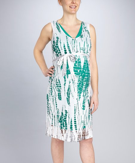 Emerald Maternity Burnout Dress