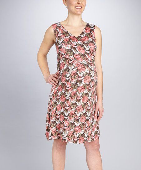 Fern Crisscross Maternity & Nursing Dress