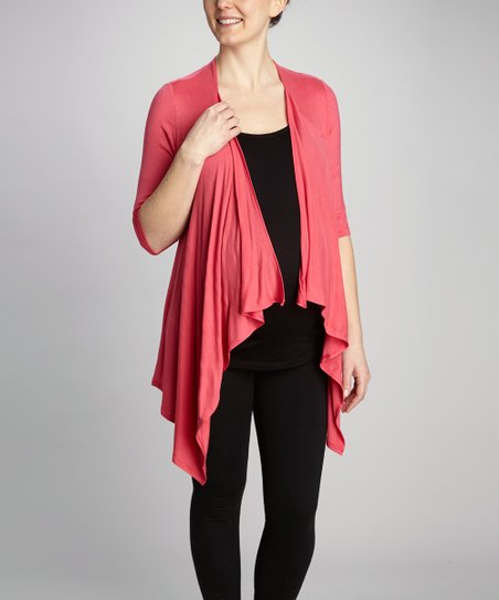 Coral Maternity & Nursing Layered Top