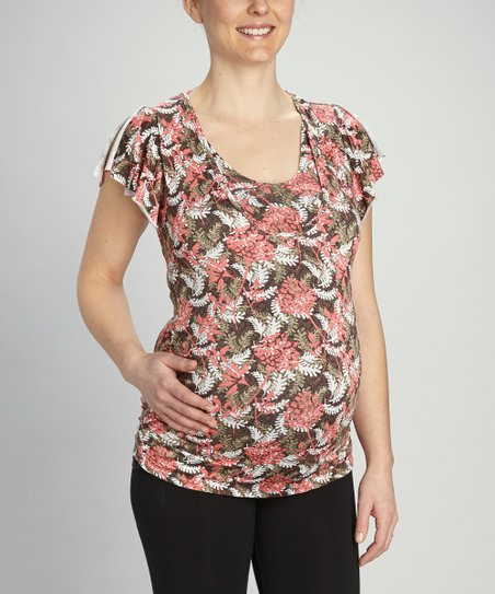 Fern Tie-Back Maternity & Nursing Top