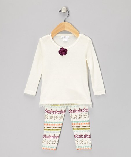 Ivory Filigree Tunic & Leggings