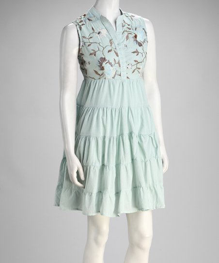 Mint Tiered Dress