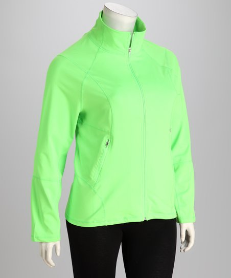 Neon Lime Track Jacket - Plus