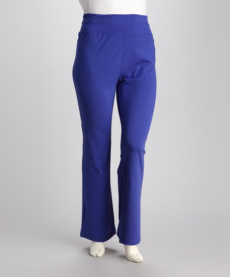 Neon Blue Lounge Pants - Plus