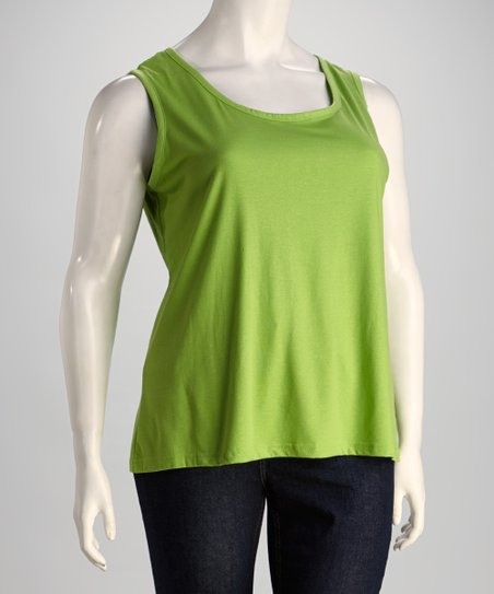 Lime Sleeveless Top - Plus