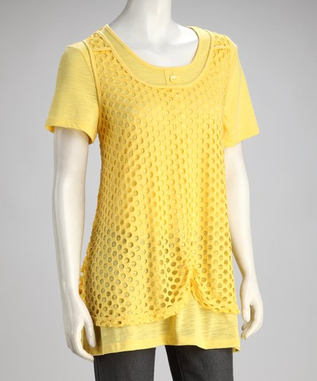 Yellow Layered Tunic