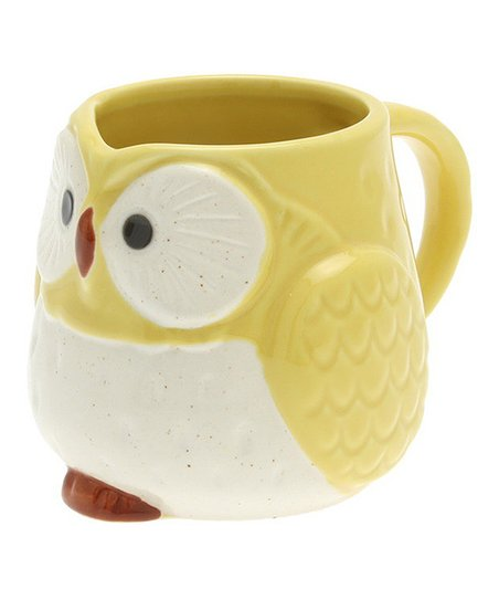 Yellow Moon Owl Medium Mug