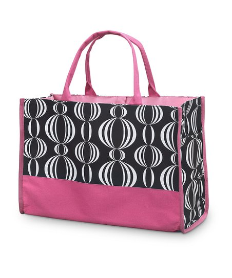 Black & Pink Pearly Girly Open Tote