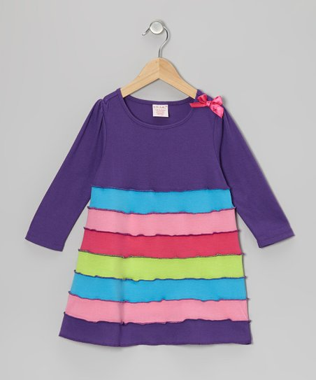 Purple Tiered Dress - Toddler & Girls