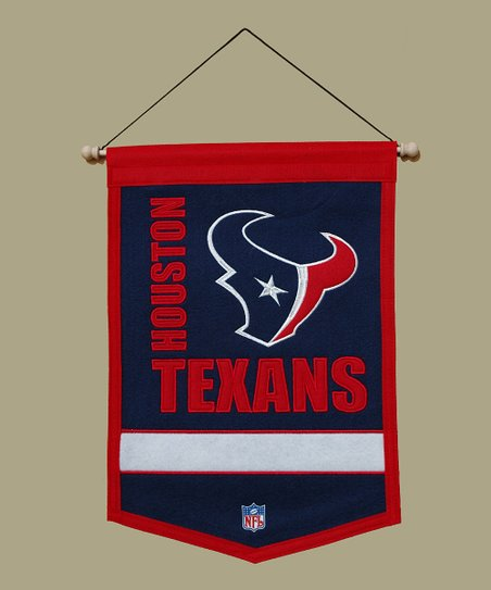 Houston Texans Wool Traditions Banner