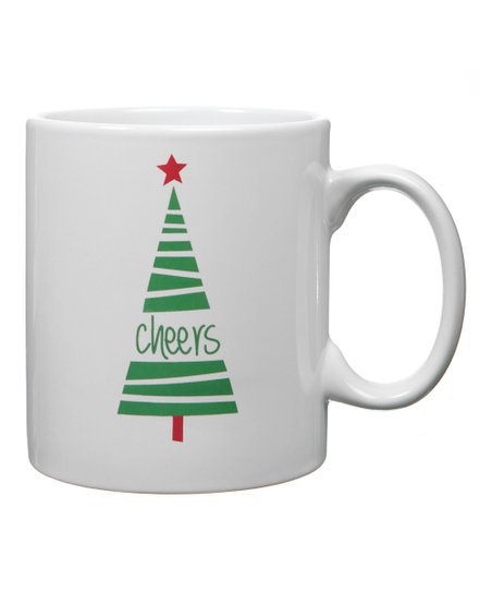 Green 'Cheers' Tree Mug