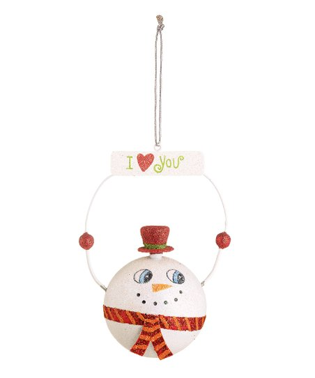 'I Love You' Snowman Ornament