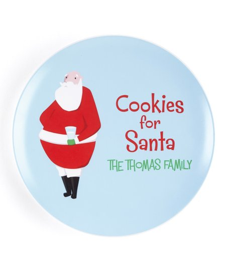 Santa Cookie Personalized Plate