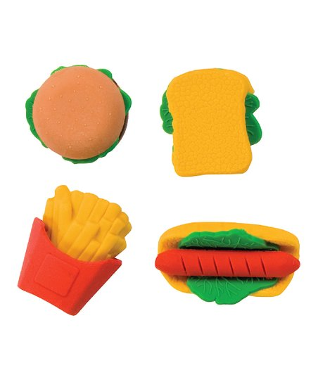 Fast Food 3-D Eraser - Set of Four
