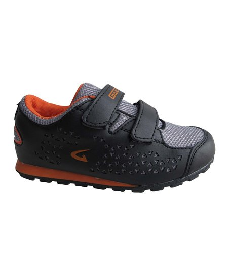 Black & Orange Mesh Double-Strap Sneaker