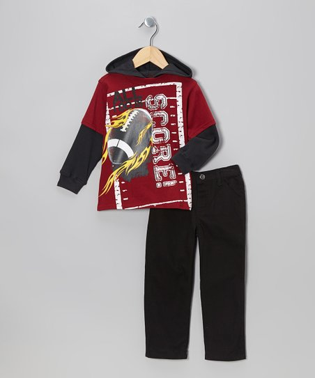 Red Field Layered Hoodie & Pants - Infant & Toddler