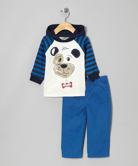 Blue Dog Hooded Top & Pants - Infant