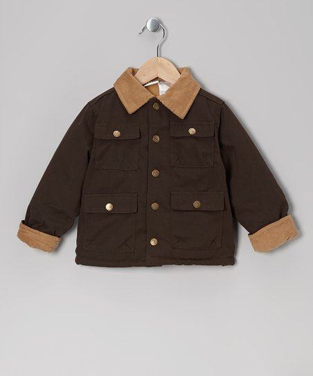 Brown Four-Pocket Jacket - Toddler & Boys