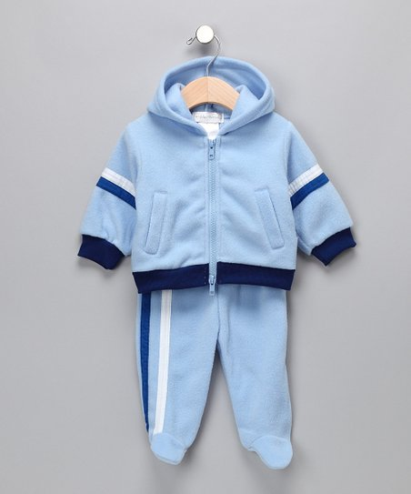 Blue 'Stinky' Zip-Up Hoodie & Footie Pants
