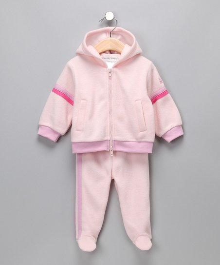 Pink 'Stinky' Zip-Up Hoodie & Footie Pants - Infant