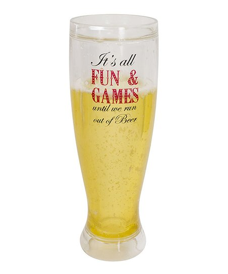 'Fun & Games' Pilsner Insulated Glass
