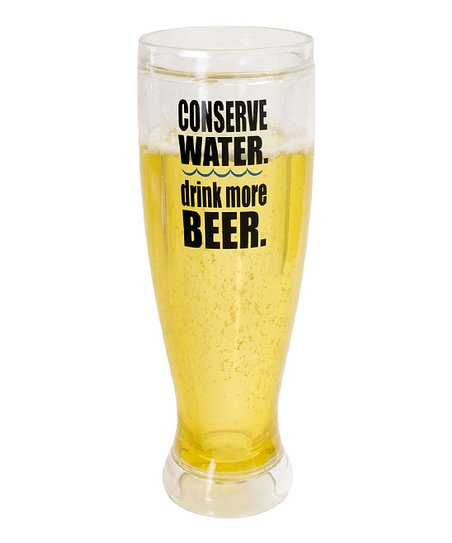 'Conserve Water' Pilsner Insulated Glass