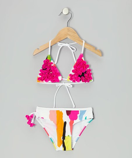 Fuchsia Blooming Bikini - Toddler & Girls